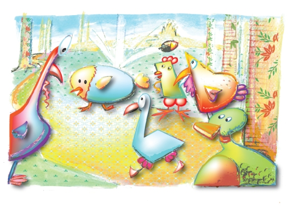 """""""Chick'n'Doodle"""" / Copyright by Mimi Selmi Reed / member SCBWI - all rights reserved"""